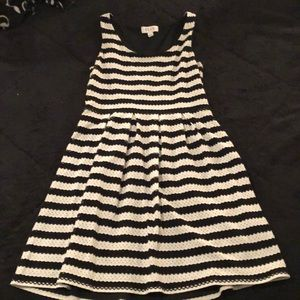 Black and white striped dress!
